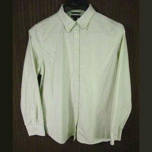 Land's End Boy's Shirt Size XL 18-20 Green Beige
